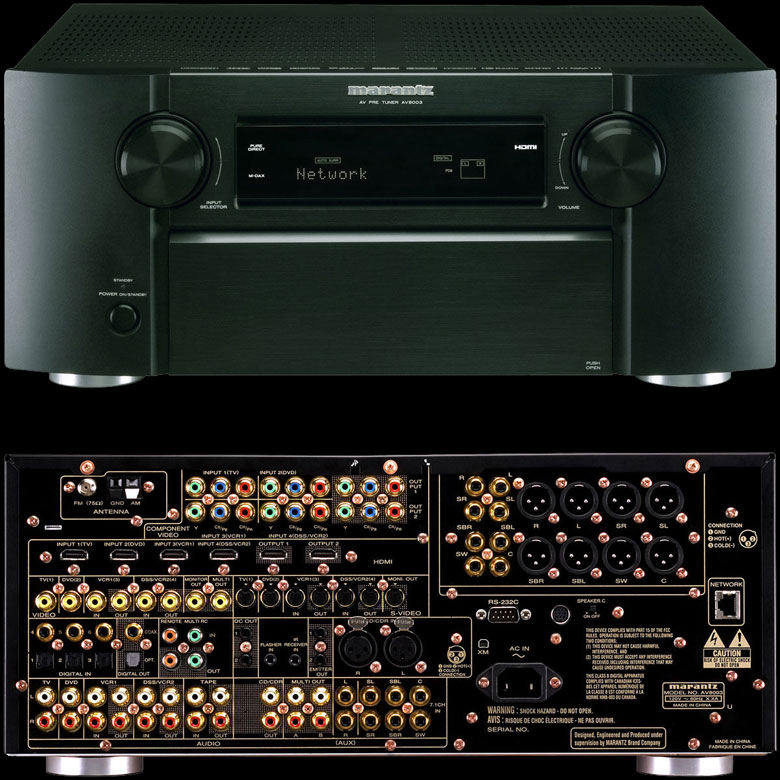 Marantz AV8003 MM8003 AV preamplifier and power amplifier